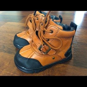 Polo Ralph Lauren baby boy boots 3 brown leather